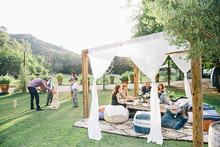 Calamigos Ranch wedding reception