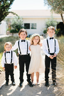 Flower girl and ring bearer portrait