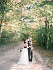 Outdoor Georgia wedding portrait