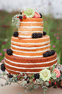 Blackberry naked cake