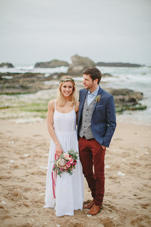 Bohemian beach wedding