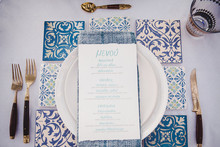 Wedding menu