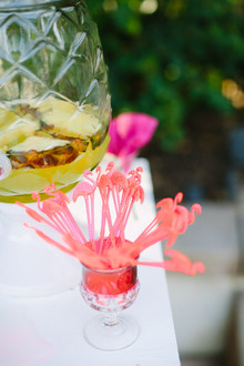 Flamingo cocktail stirrers