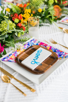 Modern and colorful wedding inspiration