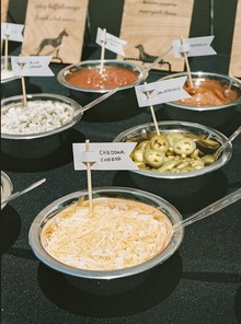 hot dog bar toppings