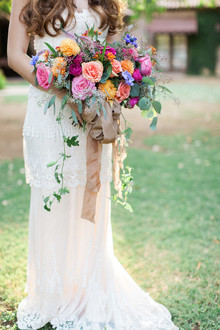 Colorful bridal bouquet