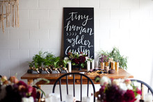 Modern fall baby shower