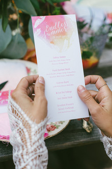 Watercolor menu