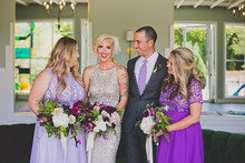 Purple bridesmaids dress