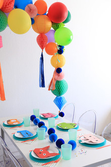 bright modern 5th birthday