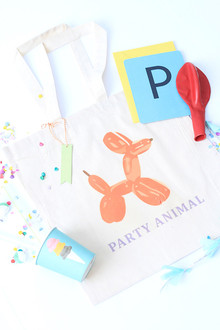bright modern birthday party