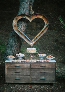Rustic fall dessert table