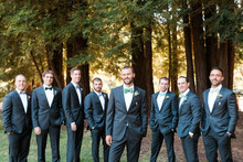 Outdoor groomsmen portrait