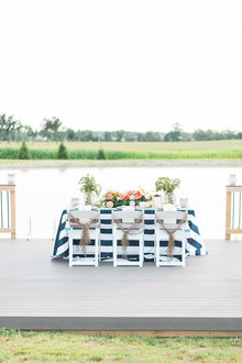 Nautical wedding tablescape