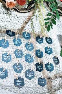 Nautical escort card display