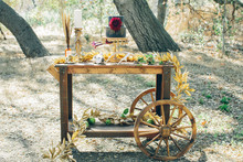 Wooden desert cart
