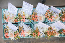 floral baby shower favors
