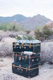 Whimsical desert wedding decor