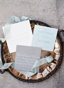 Winter wedding invitation suite