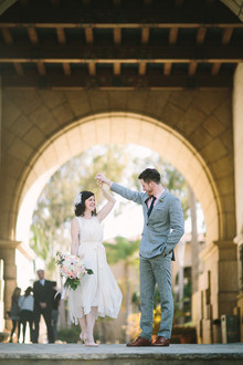 Santa Barbara courthouse elopement portrait