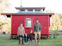 Family and their tiny house