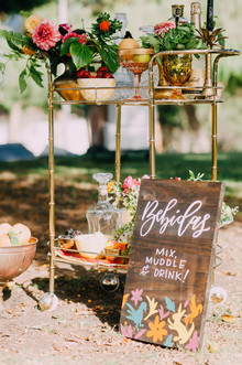 Bar cart decor