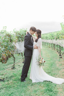 Georgia winery wedding portrait