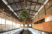Romantic ranch wedding reception