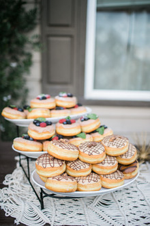 Donut dessert display