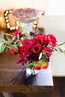 Red anemone florals