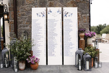 Elegant scroll escort cards