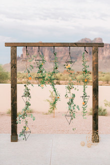 Geometric ceremony wedding backdrop