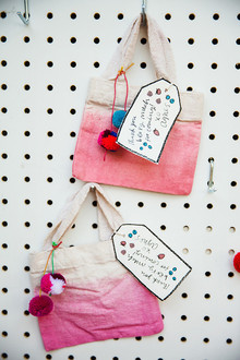 dip dyed favor bags