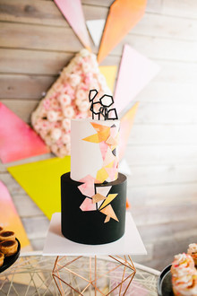 kaleidoscope baby shower cake