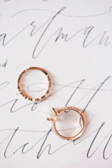 Rose gold wedding rings