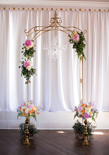 Vintage ceremony backdrop