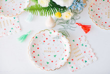 festive holiday paper plates