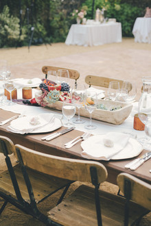 Farm to table wedding tablescape