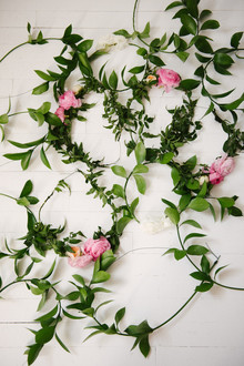 Green vine flower crown