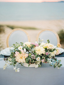 Organic seaside wedding inspiration