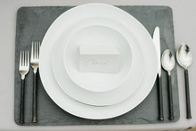 Simple white plates