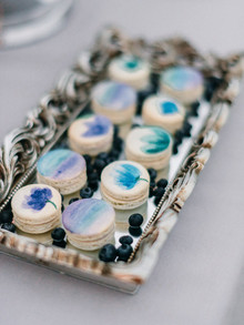 Watercolor macaroons