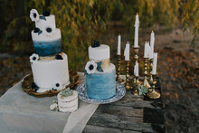 Seaside wedding cakes