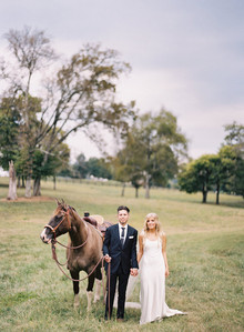 Rustic Tennessee wedding portrait