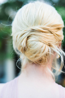 Bridal bun hairstyle