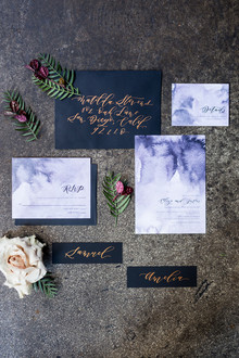 Elegant watercolor invitation