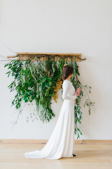 Organic wedding portrait