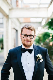 Groom in a tux
