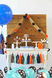 Woodsy first birthday party from Happy Wish Co