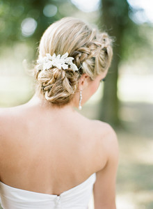 Braided bridal hairstyle